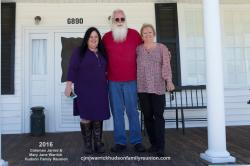 2016 – Family of Bose: Natalie Ellis Baker, Edwin (ED) Nichols, Lisa Brasher Ellis Nichols. Not pictured is Jamie Bake
