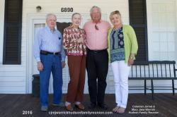 2016 – Family of Will I: Billy McLamb, Dixie Hudson Mclamb, Robert (Bob) Sutton Hudson, Lisa Hudson Tart.