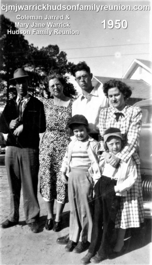 Sallie Hudson Roberts and Family