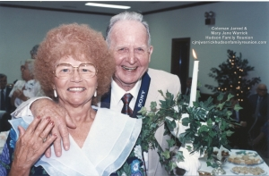 Norma Hudson West with husband Bill, 1993