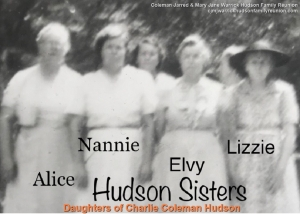 Daughters of Charlie Coleman Hudson