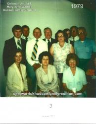 1979 - Family of George: Front Row: Nell Hudson, Wife of Dewey Hudson Jr.; Elsie Hudson, Wife of Pelman Hudson; Norma Va
