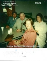 1979 – Family of Will I – Bob Hudson, Troy Raymond Hudson Jr., Elena Sutton Hudson, Janice Hudson (in foreground).