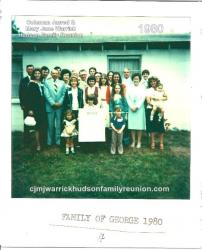 1980 - Family of George - First row: Kelly Cannady, Scot Cannady, Leslie Spell. Second row: Nell Hudson, Pelmon Jart Hud