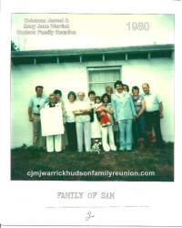 1980 - Family of Sam - Thomas Sutton, Elizabeth Hudson Jones, Sue Jones Sutton, Gertie Hudson, Juanita Hudson Whitfield,