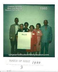 1980 - Family of Hollie - J. Charlie Hudson, Kate Hudson Gurganus, Grace Faulk, Lola Britt Hudson, Lossie Kate Hudson Sh