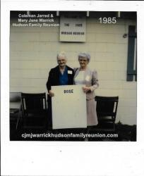 1985 - Family of Bose: Correna Belle Hudson Boyette, Joyce Boyette Reeves