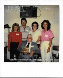 1985 - Family With Most Children Present: Sampson Hudson Sr. Family- Peggy Hudson Spell, Sampson Hudson Jr., Margaret Hu