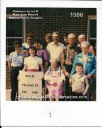 1986 - Family of Hollie: First Row: Michelle Mozingo, Kate Hudson Faulk Gurganus, Aaron Mozingo Second Row: Grace Faulk,