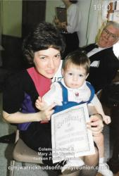1990 - Youngest Descendant Present: Alexander (Alex) David Hudson (in arms of mother, Phyllis)