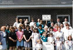 1991- Family of George: First Row: Samuel Lewis Hudson, Blake Hudson, Brittney Hudson, Natalie Hudson, Cindy Powers Seco