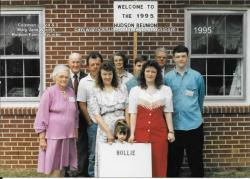 1995 - Family of Hollie: First Row: Jessica Horn, Kathy Shipp Mozingo Blagg, Michelle Mozingo Third Row: Lossie Hudson S