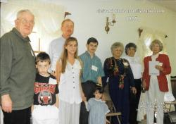 1995 - Visitors: First Row: Jessica Horn Second Row: Edwards Hudson, Michael Hudson, Melanie Britt, Kenneth Weeks, Evely