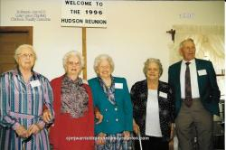 1996 - Descendants Present Age 80 and Older: Sallie Hudson Roberts (87), Elva Hudson Hunter (93), Annie Lou Barnhill Lee