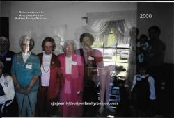 2000 – Descendants Age 80 or Older: Sallie Hudson Roberts, Juanita Hudson Whitfield, Janie Doll Hudson Bradsher Wallac