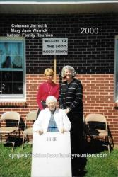2000 - Family of John - First row: Sallie Hudson Roberts. Second row: Margie Hudson Wright and Sarah COLLINE Roberts.