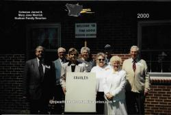 2000 - Family of Charlie –  First row: Don Honeycutt, Portia Hatcher Raynor, Dora Hunter Barlow Boney. Second row: Ken