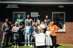 Family of Sallie 2000. First row: Justine Noble, Zach Warrick, Jessica Noble. Second row: Bernice Warrick, Sheila Cordel