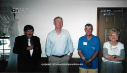 2001 - Visitors at reunion –  Rev. William Tripp Sr., Ken Pollock, Benny Tripp, Joyce Bass Binkley.