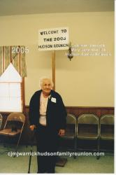 2005 – Oldest Descendant of Sam in Attendance: Mabel Hudson Bishop