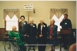 2005 – Descendants Age 80 and Older:  Janie Doll Hudson Bradsher Wallace (87), Annie Ruth Hudson Sizemore (81), Annie