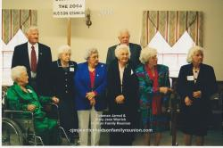 2005 – Grandchildren of CJ & MJ in Attendance (1): Front Row - Janie Doll Hudson Bradsher Wallace, Annie Lou Barnhill