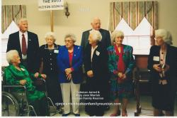 2005 – Grandchildren of CJ & MJ in Attendance (2): Front Row - Janie Doll Hudson Bradsher Wallace, Annie Lou Barnhill