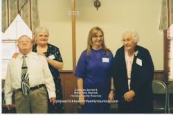 2005 – Descendants First Time Attending:  Edward Gerald Hudson, Jean Hudson Wray, Angela Hewitt, Mabel Hudson Bishop.
