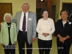 2010 – Descendants Age 80 and Older: Norma Hudson West (84), Elwood (Woody) Hudson (82), Annie Ruth Hudson Sizemore (8