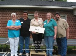 2010 – Family of Sam: Gwen Bishop, Lynwood (Lyn) Thurston Hudson, Barbara Jean Hudson, Linda Hudson, Samuel (Sam) Elli