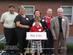 2010 – Family of Will I: Front Row – Reid Walters. Middle Row – Jason Walters, Jeannie Hudson Walters, Eleana Sutt