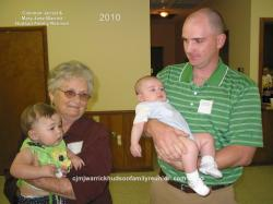 2010 – Babies Born Since 2009 Reunion: Caitlin Elizabeth Davis Crowe, held by her great grandmother, Portia Hatcher Ra