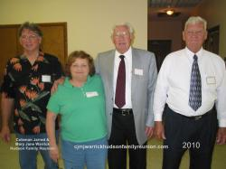 2010 – Officers for 2009 – 2010 Year: Gary Alan Hudson, Vice President; Peggy Hudson Pollock, Treasurer; Elwood (Woo
