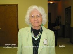 2010 – Oldest Lineal Descendant of George in Attendance: Norma Hudson West (84)