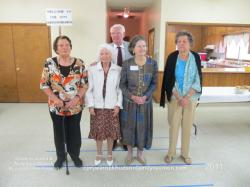 2011 – Descendants Age 80 and Older: Front Row – Eleana Sutton Hudson (91), Norma Hudson West (85), Annie Ruth Hudso